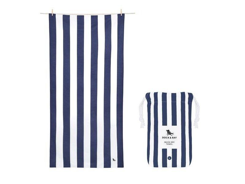 Doc & Bay Cabana Beach Towel Navy Blue