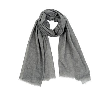 Antique Dye Scarf Dark Grey