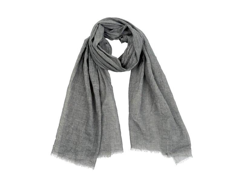 Indaba Trading Antique Dye Scarf Dark Grey