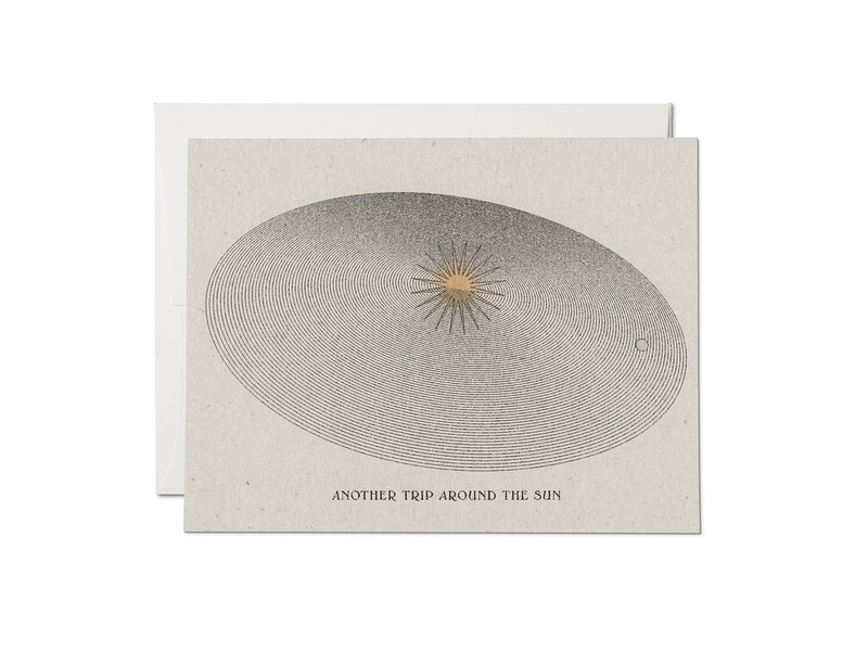 Red Cap Cards Around The Sun Card