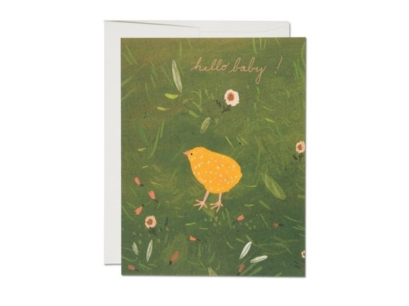 Red Cap Cards Baby Chick