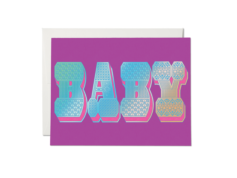 Red Cap Cards Baby Typography