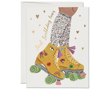 Roller Skate Foil Birthday Card