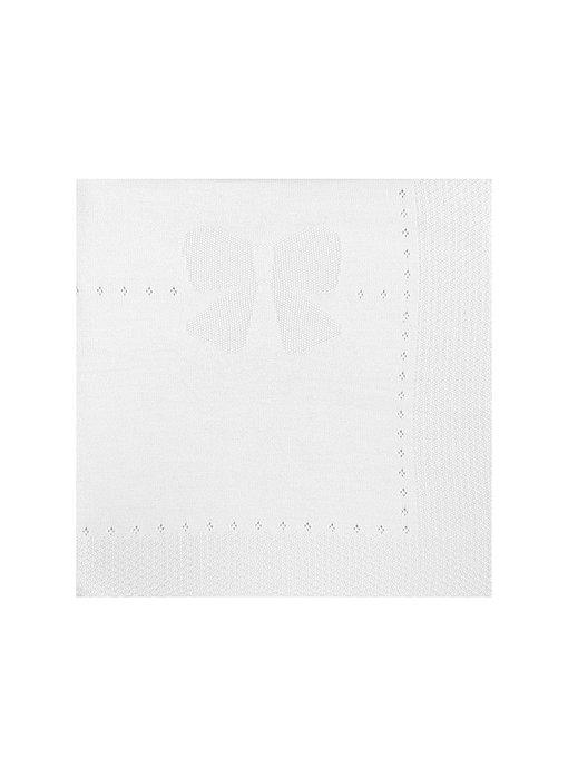 White Knit Baby Blanket