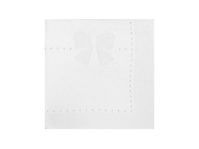 Mayoral White Knit Baby Blanket