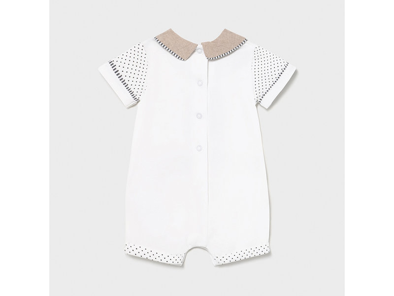 Mayoral Bunny Knit Short Coverall