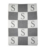 Butterscotch Blankees Personalized Initial & Blocks Stroller Blanket