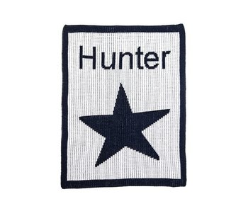 Personalized Single Star & Name Stroller Blanket