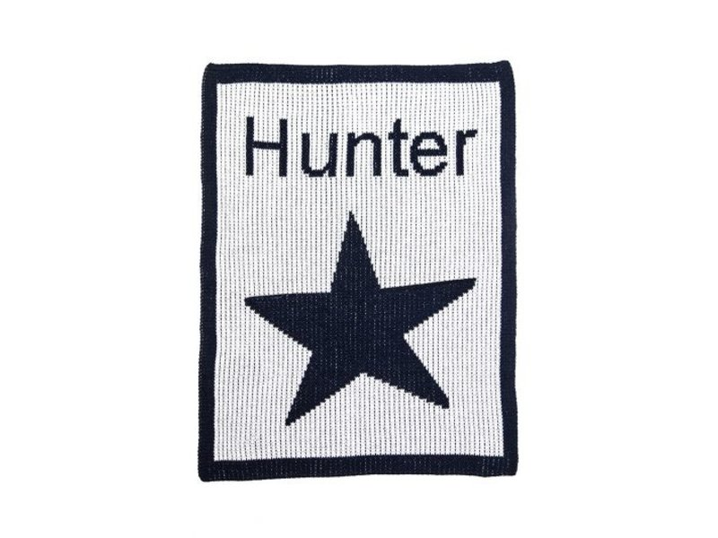 Butterscotch Blankees Personalized Single Star & Name Stroller Blanket