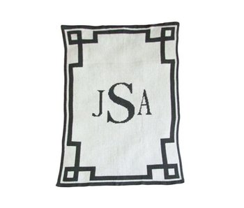 Personalized Monogram & Scroll Throw Blanket