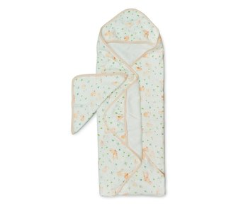 Bunny Meadow Hooded Towel Set