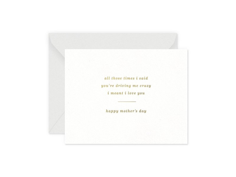 Smitten on Paper Crazy Mother's Day Greeting Card