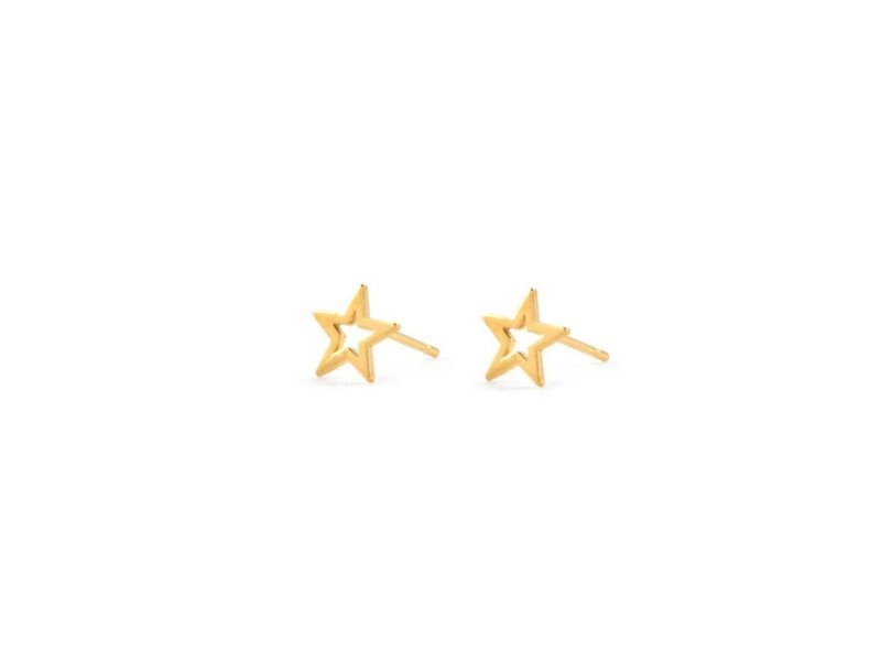 Jurate Brown Star Stud Earrings