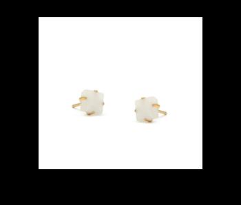 Moonstone Raw Stone Earrings