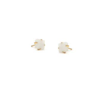 Moonstone YG Raw Stone Earrings
