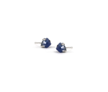 Sapphire Raw Stone Earrings
