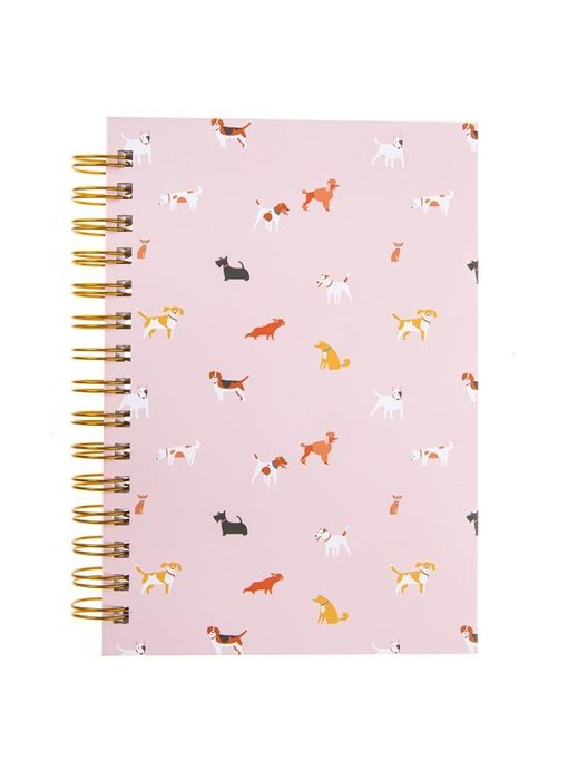 Dog Pattern Hard Bound Journal