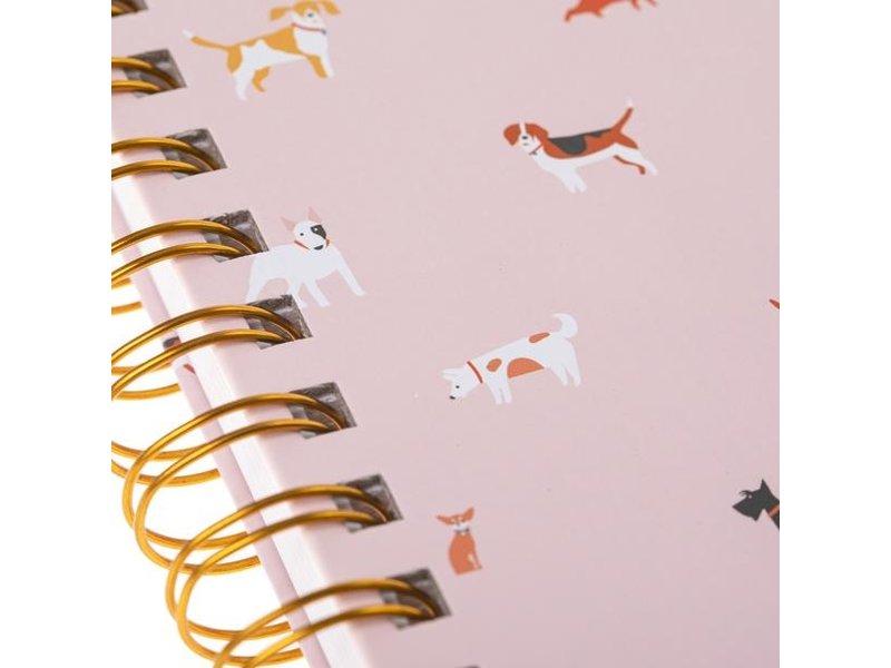Graphique De France Dog Pattern Hard Bound Journal