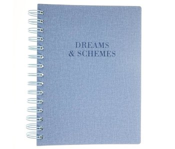 Blue Dreams & Schemes Soft Cover Notebook