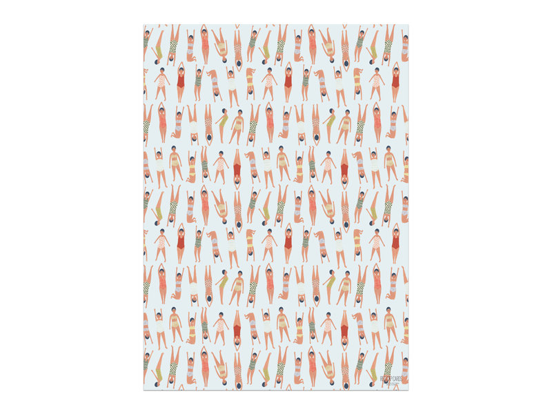 Red Cap Cards Swimmers Gift Wrap