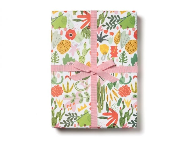 Red Cap Cards Succulent Garden Gift Wrap