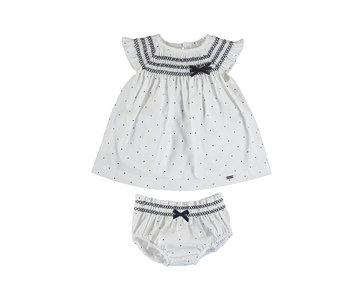 Amelie Linen Polka Dot Dress