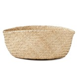 Americanflat Home Hand Woven Palm and Seagrass Belly Basket