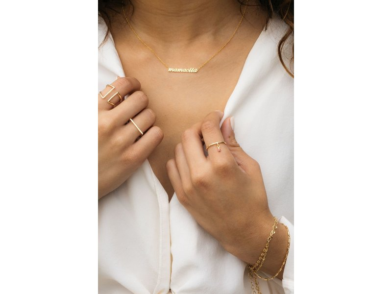 Jurate Brown Hey Mamacita Gold Necklace