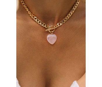Oh Girl Rose Quartz Necklace