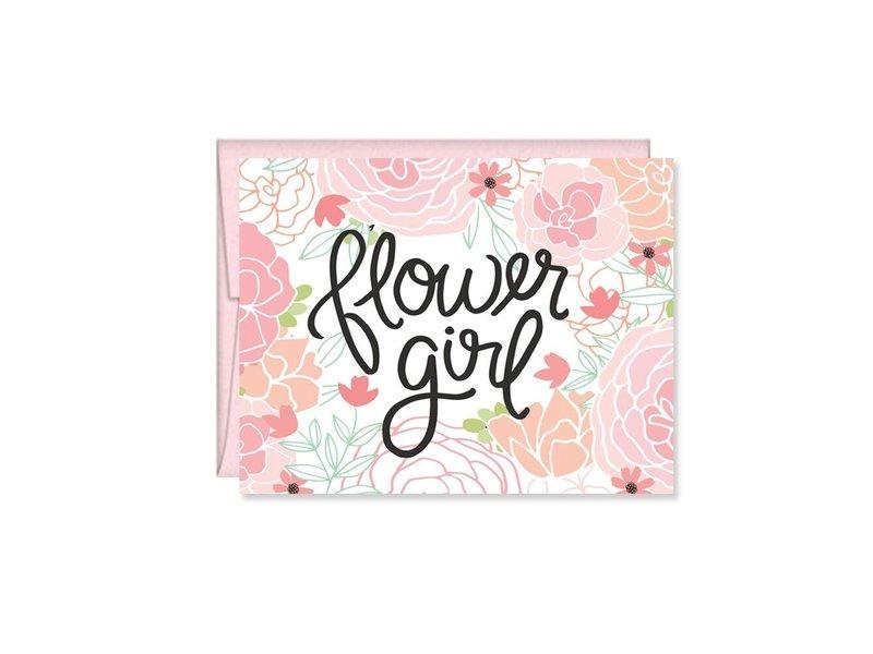 Pen + Paper Flower Girl Greeting Card