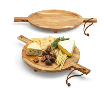 Footed Serving Boards with Handles