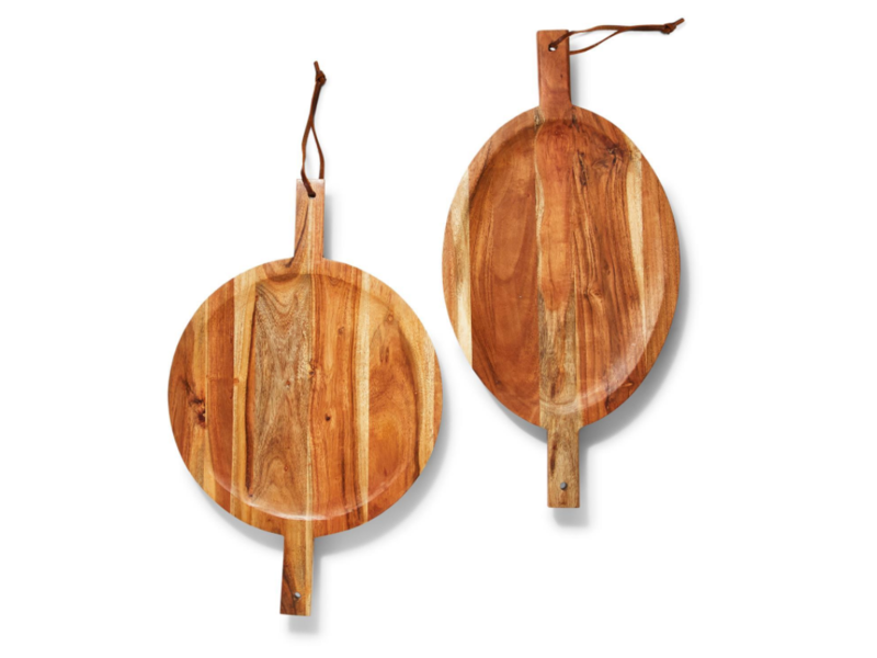 Two's Company Footed Serving Boards with Handles