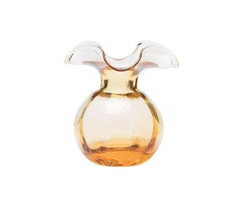 Hibiscus Glass Amber Bud Vase