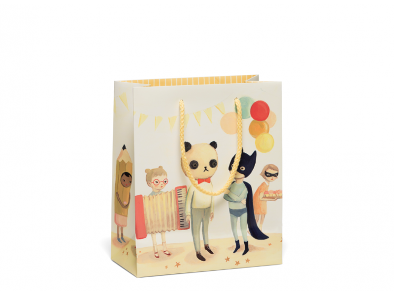 Red Cap Cards Costume Party Gift Bag