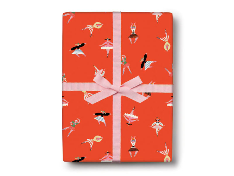 Red Cap Cards Birthday Dancers Gift Wrap