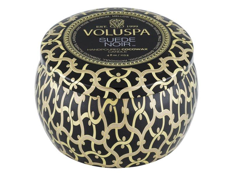 Voluspa Suede Noir Mini Tin Candle