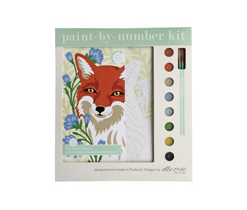 Paint-By-Number Kit - Fox with Chicory