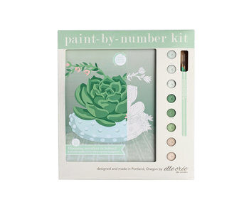 Blooming Succulent Paint-By-Number Kit