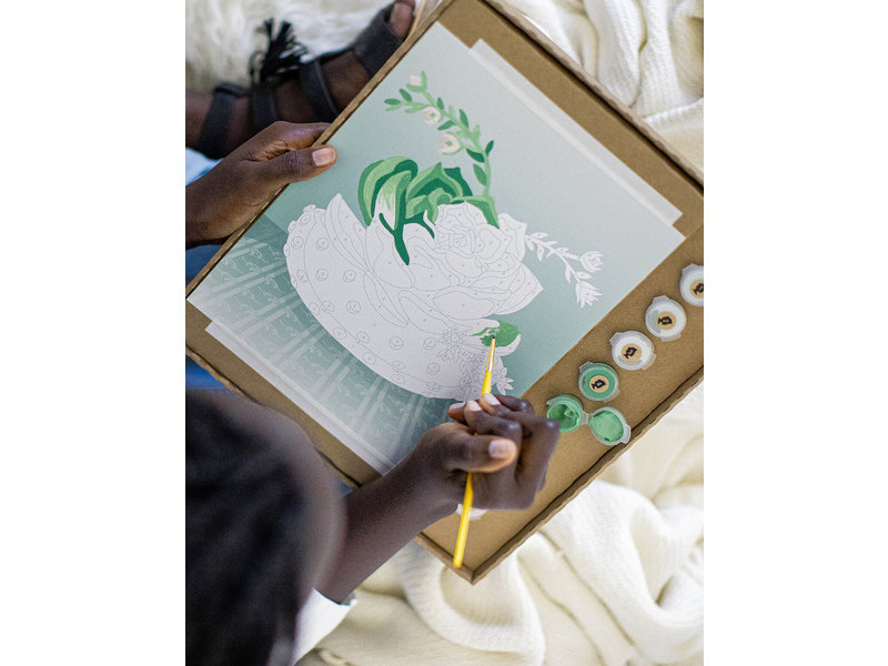 Elle Cree Blooming Succulent Paint-By-Number Kit