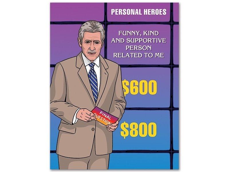 The Found Jeopardy Dad Birthday Card