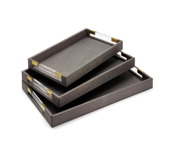 Grey Stingray Rectangle Tray