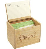 Peter Pauper Press Bamboo Recipe Box Set