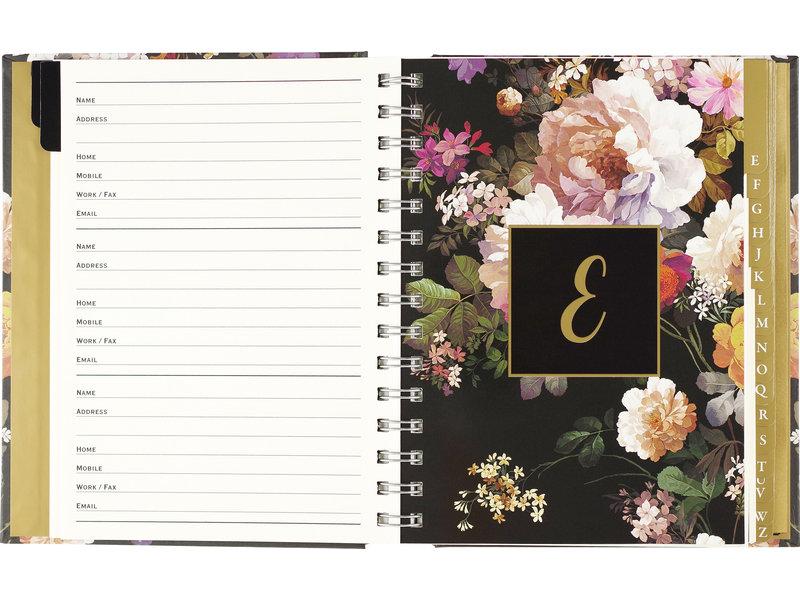 Peter Pauper Press Midnight Floral Large Address Book