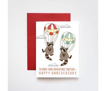 Sky Diving Raccoons Happy Anniversary