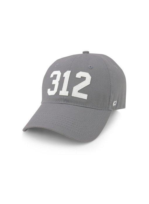 312 Chicago Baseball Cap Gray & White
