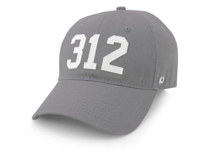 CodeWord 312 Chicago Baseball Cap Gray & White