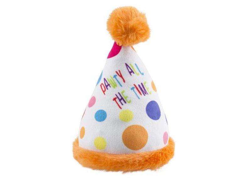 Haute Diggity Dog Happy Birthday Party Hat Toy