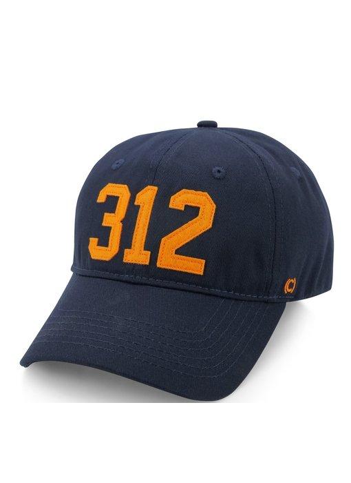 312 Chicago Baseball Cap Navy & Orange (Chicago Bears)