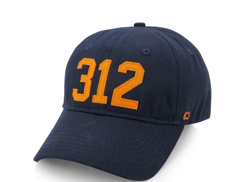 CodeWord 312 Chicago Baseball Cap Navy & Orange (Chicago Bears)
