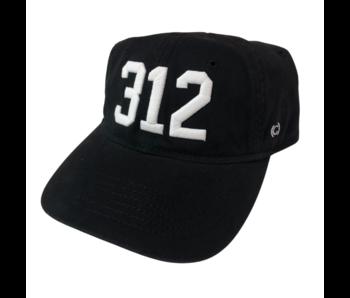 312 Chicago Baseball Cap Black & White (White Sox)